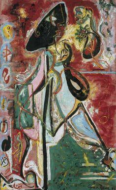 La donna luna (The Moon Woman), 1942 Olio su tela, 175,2 x 109,3 cm Collezione Peggy Guggenheim, Venezia(cortesia CNR, © Jackson Pollock, by SIAE 2013)