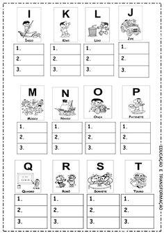 Fonte: www.facebook.com/educaretransformar Learn Portuguese, Vocabulary, Preschool, Education, Learning, Facebook, Mary, Google, Projects