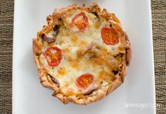Slimming Eats Caramelized Onion, Tomato and Mozzarella Tart - vegetarian, Slimming World (SP) and Weight Watchers friendly