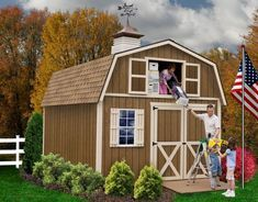 Best Barns Millcreek Wood Shed Kit. BEST BARN MILLCREEK WOOD SHED KIT. This kit is a perfect solution for all your storage needs. This specific shed features a large loft area with a working loft door. Build A Shed Kit, Wood Shed Kits, Building A Shed, Building Ideas, Building Plans, Diy Storage Shed Plans, Wood Storage Sheds, Wooden Sheds, Cedar Sheds