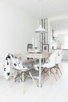 Home Decoration Ideas and Design Architecture. DIY and Crafts for your home renovation projects. Dining Room Inspiration, Home Decor Inspiration, Decor Ideas, Deco Design, Home And Deco, Scandinavian Interior, Monochrome Interior, My New Room, Interiores Design