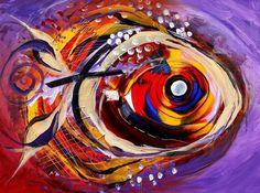 Scripture Fish Canvas Print / Canvas Art by J Vincent Scarpace Fish Artwork, Fish Wall Art, Fish Paintings, Diy Canvas, Canvas Art, Canvas Prints, Sea Life Art, Fish Patterns, Simple Prints