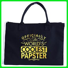 Officially The World's Coolest Papster A Great Gift - Tote Bag - Top handle bags (*Amazon Partner-Link)