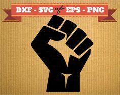 Poing levé SVG revolution fichier vectoriel pour cricut, Poing levé cutting files, clipart revolution DXF files Poing levé, silhouette poing