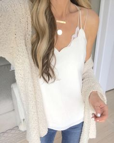 7d81e9e29f987 early summer outfit ideas and memorial day sales - scalloped camisole on pinteresting  plans fashion blog