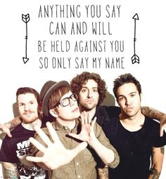 Just One Yesterday - Fall Out Boy <<<--- I love this song, some days I listen to it on repeat