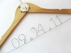 personalized hanger. Perfect to hang the wedding dress on