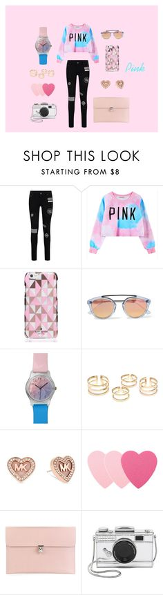 """""""Pink style"""" by cathylau on Polyvore featuring Chicnova Fashion, Kate Spade, Westward Leaning, May28th, Michael Kors, Sephora Collection, Alexander McQueen, women's clothing, women's fashion and women"""