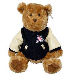 """TEDDY BEAR CHEERLDR BOY ARIZONA 12""""  $38.99"""