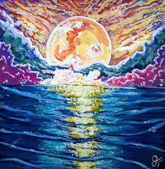 Waves, Ocean, Artist, Artwork, Painting, Outdoor, Outdoors, Work Of Art, Painting Art
