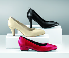 I Love Comfort®/MD Leather Pumps Love the black and white pumps, and I guess the red one is okay.