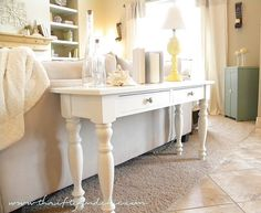 sofa table redo