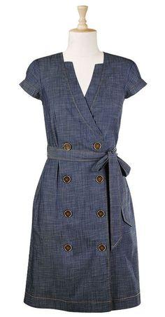 Жан платье [ «Я обожаю это. Большие кнопки, джинсы. платье», «Женщины