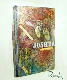 """Mixed Media Canvas Journal Book Cover Shopping Our Stash """"Play Misty For Me"""" DT Sample:  Fun With Sprays and Mists"""