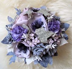 Coffee filter flowers, paper wedding bouquet