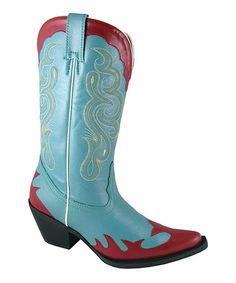 Look at this #zulilyfind! Red & Blue Reba Cowboy Boot - Women by Smoky Mountain Boots #zulilyfinds