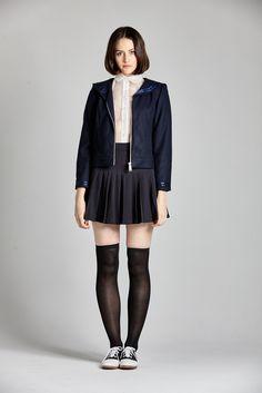 Laurel Stovall Image of Wool Sailor Jacket