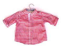 Valentine's Day Red Check Button Up Shirt