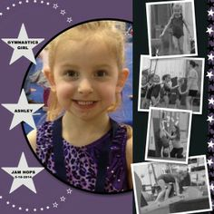 """Sweet """"Gymnastics  girl"""" Scrapbooking Layout...created by Sue Lehrer, SU Demonstrator, using My Digital Studio software from Stampin' Up!  Still Stamping With Sue."""
