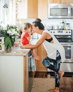 We live for sweet moments like this! @corinnegold in our Cobalt Antigua Leggings | @albionfit
