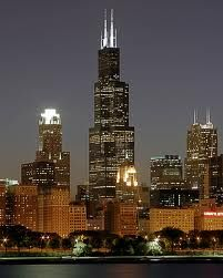 Sears Town in Chicago, now the Willis Tower.