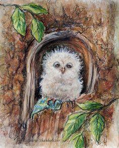 Owl Art Print children Nursery baby animal by LaurieShanholtzer, $18.00