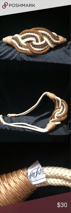 Vintage Saks 5th Ave Braided Rope Belt Vintage Saks Fifth Avenue braided rope belt measures 36 inches Saks Fifth Avenue Accessories Belts
