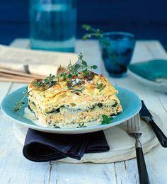 Lachslasagne mit Spinat und Parmesan - Rezepte - [LIVING AT HOME]