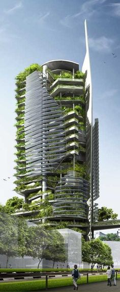 Editt Ecological Tower, Singapore designed by T.R. Hamzah & Yeang Sdn Bhd ♣ || Weekly architecture inspiration for everyone! Introducing Moire Studios a thriving website and graphic design studio. Feel Free to Follow us @moirestudiosjkt for more amazing pins like this. Or visit our website www.moirestudiosjkt.com to know more about us. #architecture #houseArchitecture #modernArchitecture || ♣: