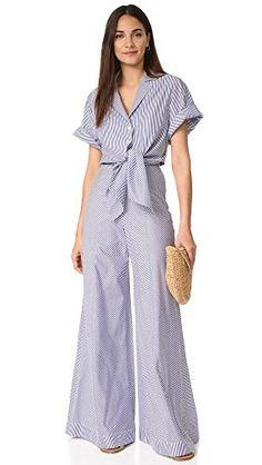Petersyn Women's Belle Jumpsuit Navy Stripe X-Small