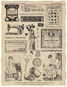 Stamps-Oxford Impressions-vintage