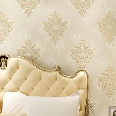 33.60$  Buy now - http://ali05k.shopchina.info/go.php?t=32794864506 - beibehang papel de parede 3D three-dimensional relief European Damascus non-woven wallpaper bedroom living room  TV background   #aliexpressideas