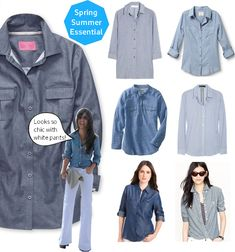 Spring workwear essential, here's how to wear Chambray shirts.