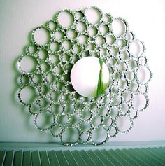 Toilet paper rolls, sequins, mirror - gotta try this!
