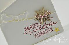born2stamp STAMPIN' UP! Weihnachtskarte - Schlittenfahrt - Schneeflocke - Willkommen Weihnacht