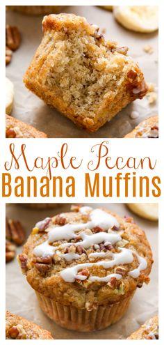 Maple Pecan Banana Muffins (Vegan) - Baker by Nature