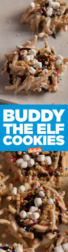 Elf fans, these Buddy The Elf Cookies look just like Buddy's breakfast. Get the recipe on Delish.com.