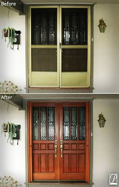 Before And After: Roll Away Screens For The Front Door. Phantom Screens For  Doors