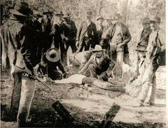 Last legal Choctaw Indian Execution took place November 4, 1884.  My Great Grandfather is in the center looking ahead with the mustache his name was Houston Nelson.  The sheriff is the one standing with the rifle.  The man executed was Silon Lewis.