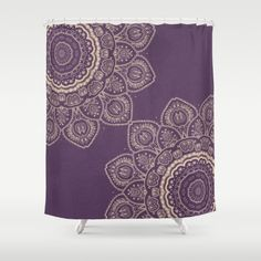 Shower Curtain 'Lavender Tulips Mandala' 71 by by FeelGoodAtHome