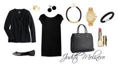"""Black work"" by judith-molinero-fashion on Polyvore featuring Yves Saint Laurent, Repetto, H&M, River Island, Michael Kors, Bridge Jewelry, Dutch Basics, Clarins and Swarovski"