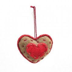 Why not add these lovely Christmassey heart decorations to your Christmas Hamper?