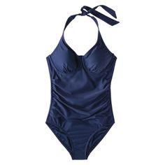 Merona® Women's 1-Piece Halter Swimsuit -Assorted Colors