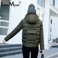 32.45$  Buy here - http://ali6zg.shopchina.info/1/go.php?t=32815493263 - Foreign Trade Fund 2017 New Pattern Short Fund Even Cotton Cap Down Cotton Ma'am Woman Mianfu Loose Coat Cotton-padded Jacket  #magazine
