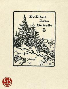 Bookplate of Leon Buirette, by Pratt Libraries on Flickr