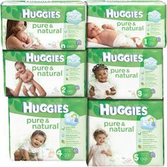 HUGGIES - Pure & Natural Diapers Jumbo Pack (Choose Your Size)