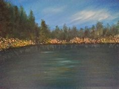 THE LAKE by JustJoszie on Etsy, $295.00 Paintings For Sale, River, Trending Outfits, Studio, Beach, Outdoor, Etsy, Vintage, Outdoors