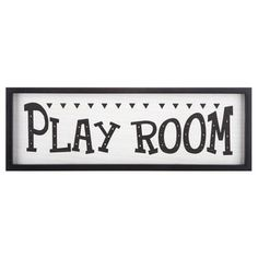 Play Room Wood Wall Decor