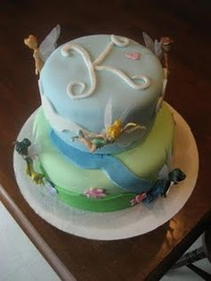 Tinkerbell Pixie Hollow birthday cake