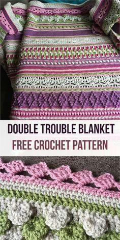 Crochet afghans 342484746660158202 - Double Trouble Blanket [Free Crochet Pattern] Source by janjbg Bag Crochet, Crochet Afgans, Baby Blanket Crochet, Crochet Crafts, Crochet Baby, Crochet Projects, Free Crochet, Crochet Blankets, Crotchet